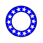Blue Ring of Stars