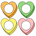 Pastel Hearts (4 colors)