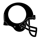 Black helmet with black facemask