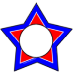 Red White & Blue Star